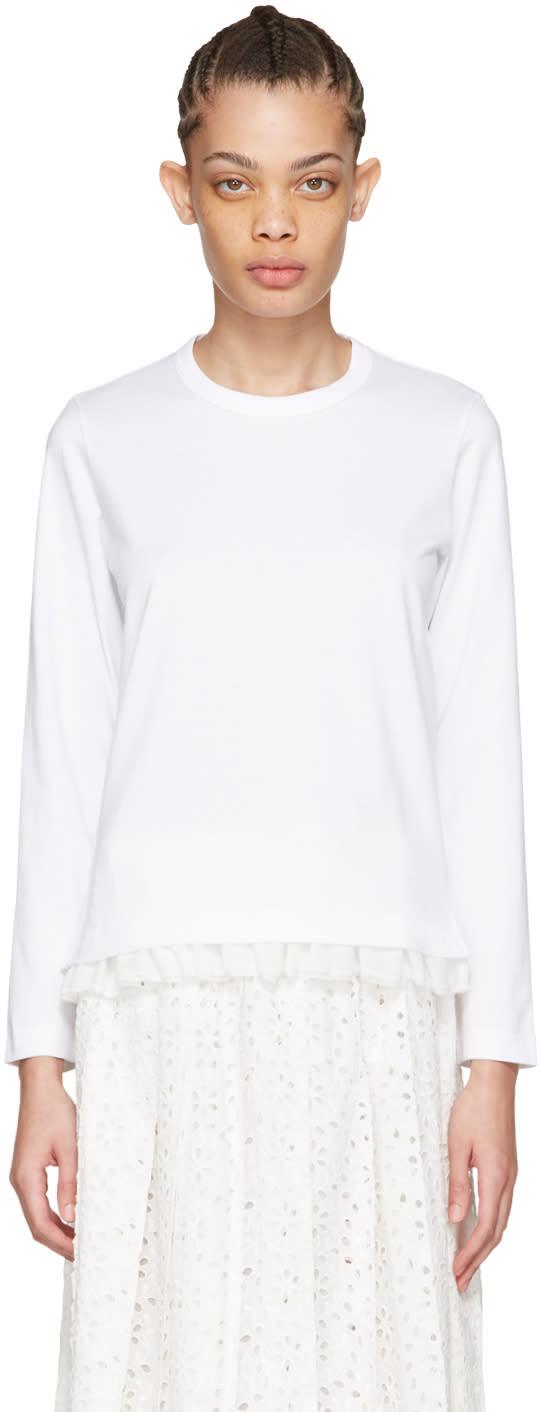 Tricot Comme Des Garcons White Frill T-shirt