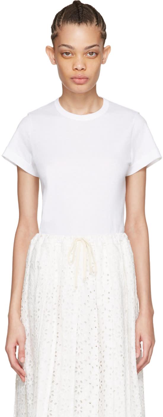 Tricot Comme Des Garcons White Cotton T-shirt