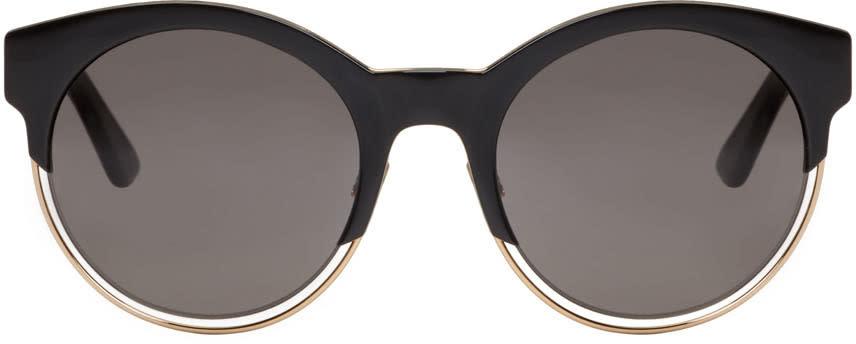 Image of Dior Black Round Sunglasses