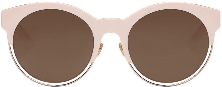 Image of Dior Pink Round Sunglasses