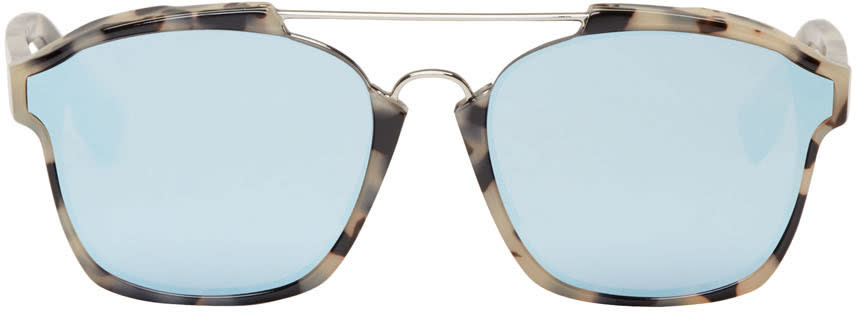 Dior Tortoiseshell Abstract Sunglasses