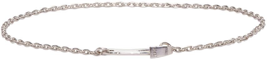Lauren Klassen Ssense Exclusive Silver Tiny Safety Pin Bracelet