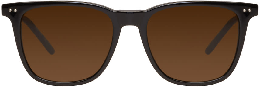 Bottega Veneta Black Classic Square Sunglasses