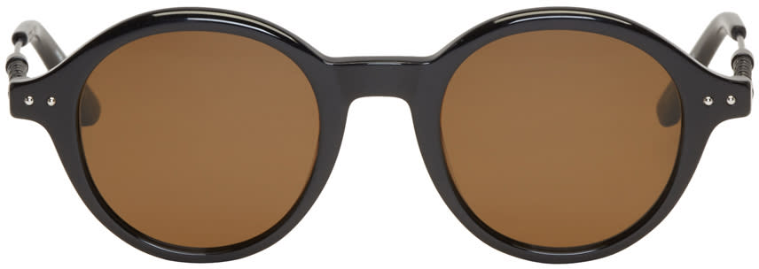 Bottega Veneta Black Round Sunglasses