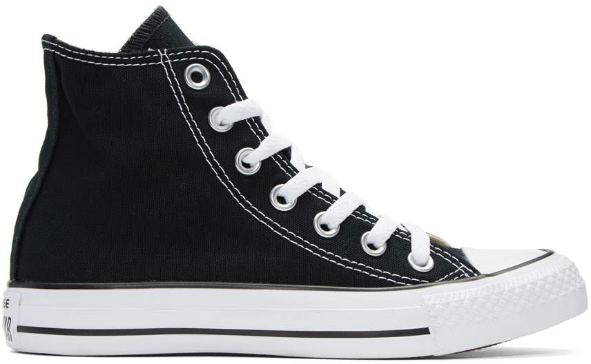Image of Converse Black and White Classic Chuck Taylor All Star Ox High-top Sneakers