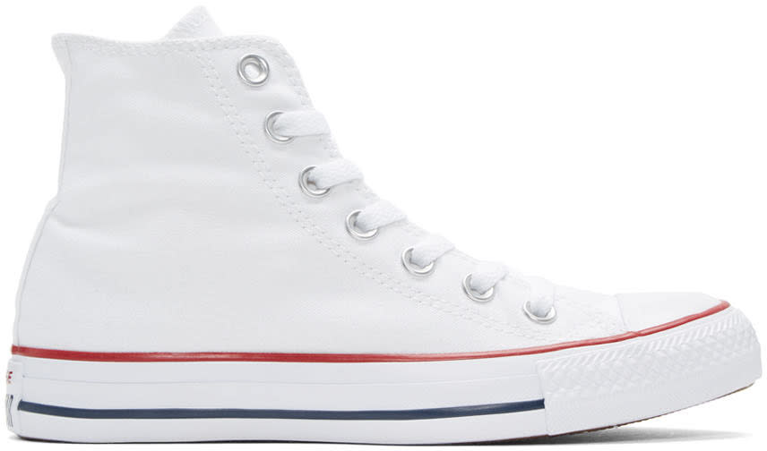 Converse White Classic Chuck Taylor All Star Ox High-top Sneakers
