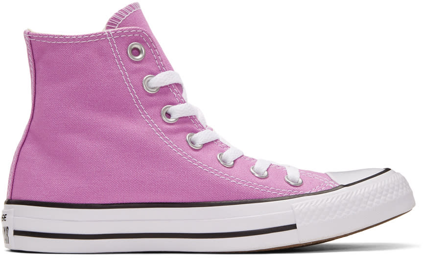 Image of Converse Purple Classic Chuck Taylor All Star Ox High-top Sneakers