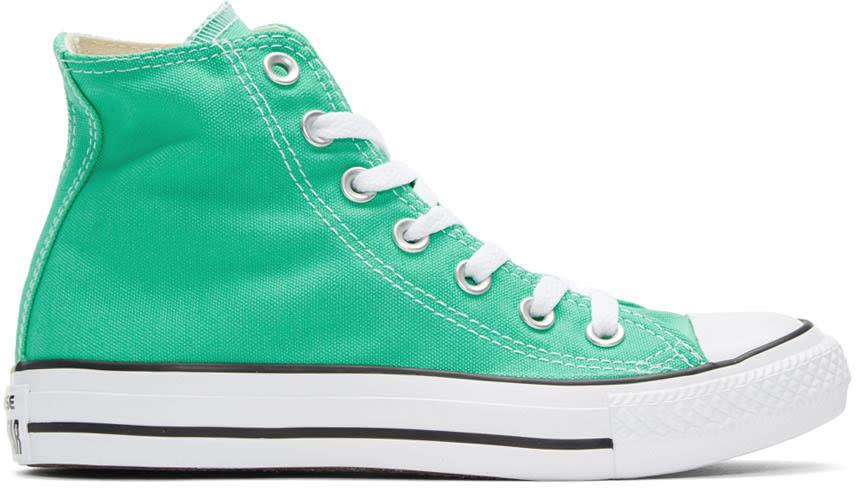 Converse Green Classic Chuck Taylor All Star Ox High-top Sneakers
