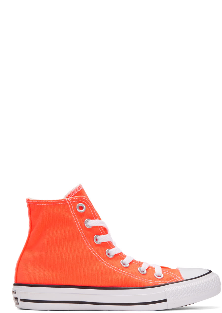 Image of Converse Orange Classic Chuck Taylor All Star Ox High-top Sneakers