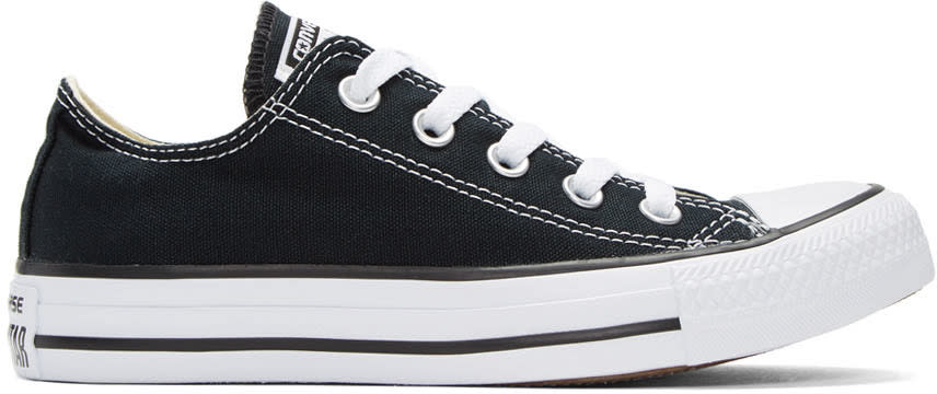Image of Converse Black and White Classic Chuck Taylor All Star Ox Sneakers