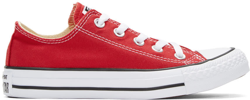 Converse Red Classic Chuck Taylor All Star Ox Sneakers