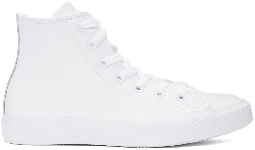 Converse White Leather Ctas High-top Sneakers