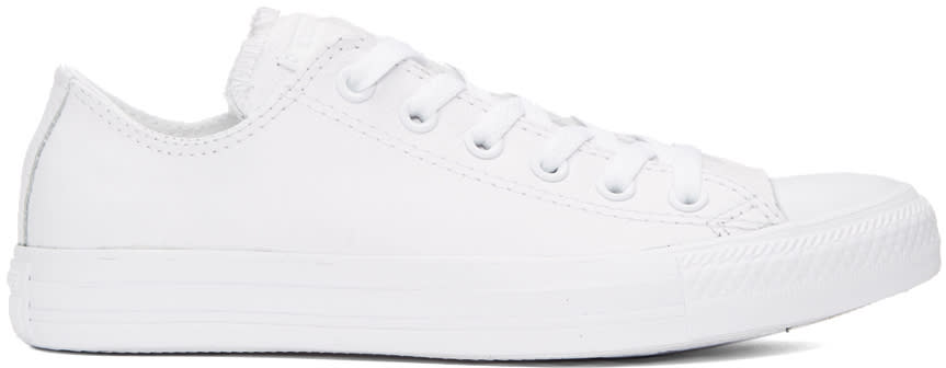 Converse White Leather Ctas Sneakers