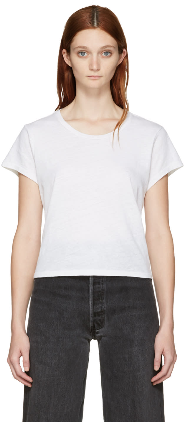 Re-done White 1950s Boxy T-shirt