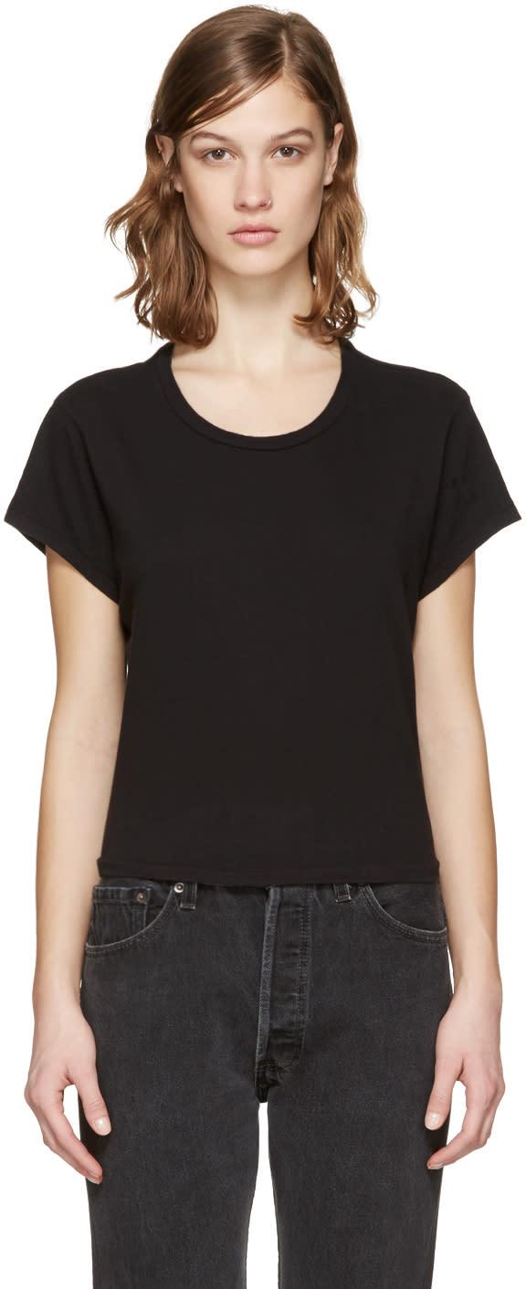 Re-done Black 1950s Boxy T-shirt