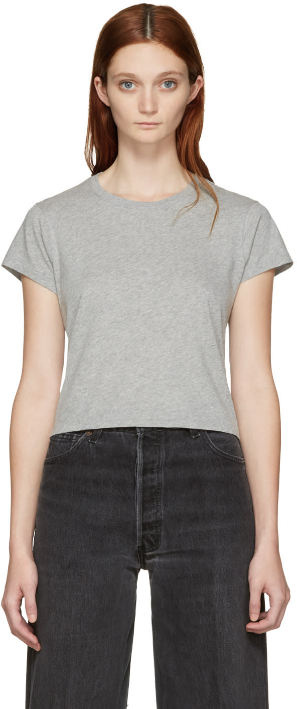 Re-done Grey 1950s Boxy T-shirt