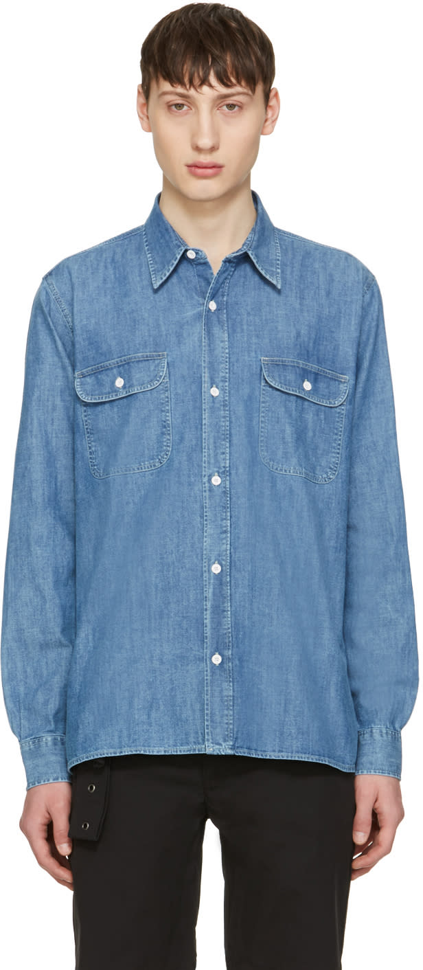 Our Legacy Blue Denim Rinse Wash Shirt