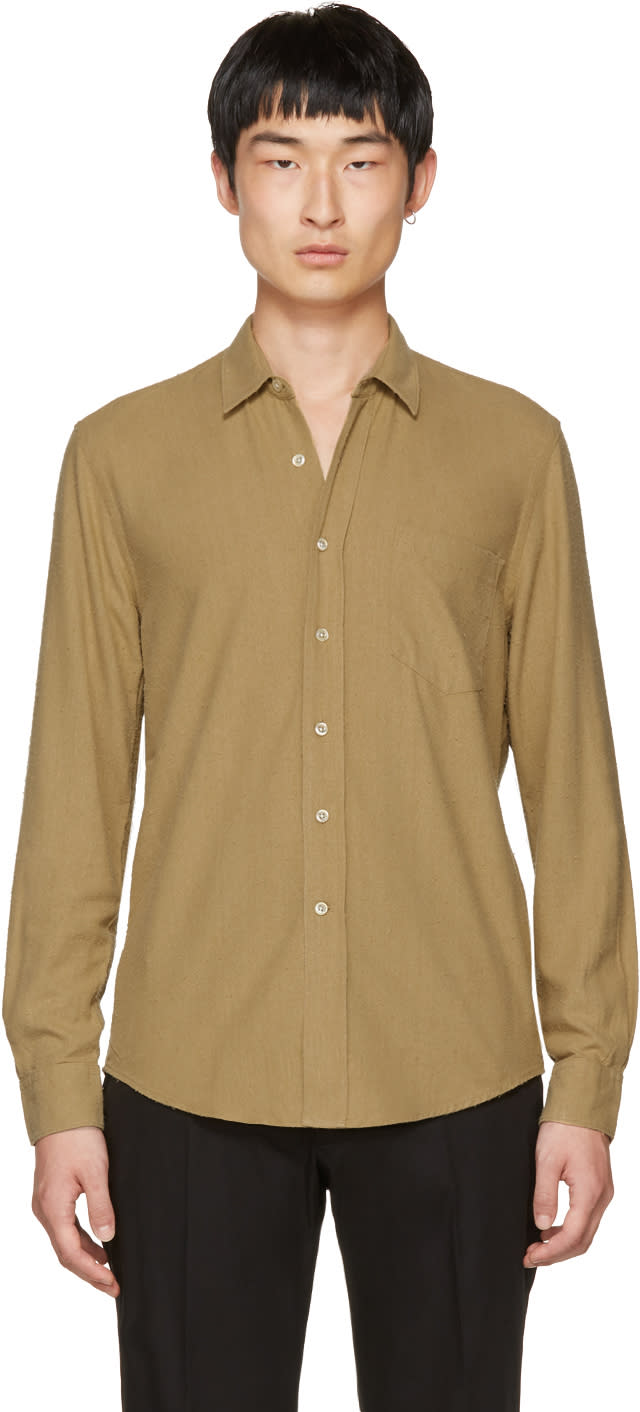 Our Legacy Tan Silk Classic Shirt