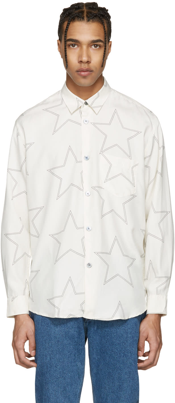 Our Legacy Ivory and Black Star Initial Shirt