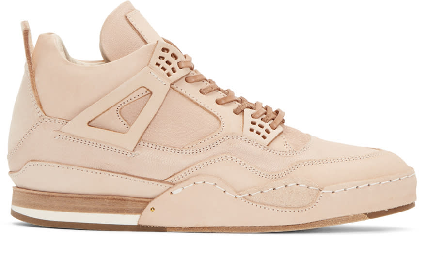 Image of Hender Scheme Beige Manual Industrial Products 10 High-top Sneakers