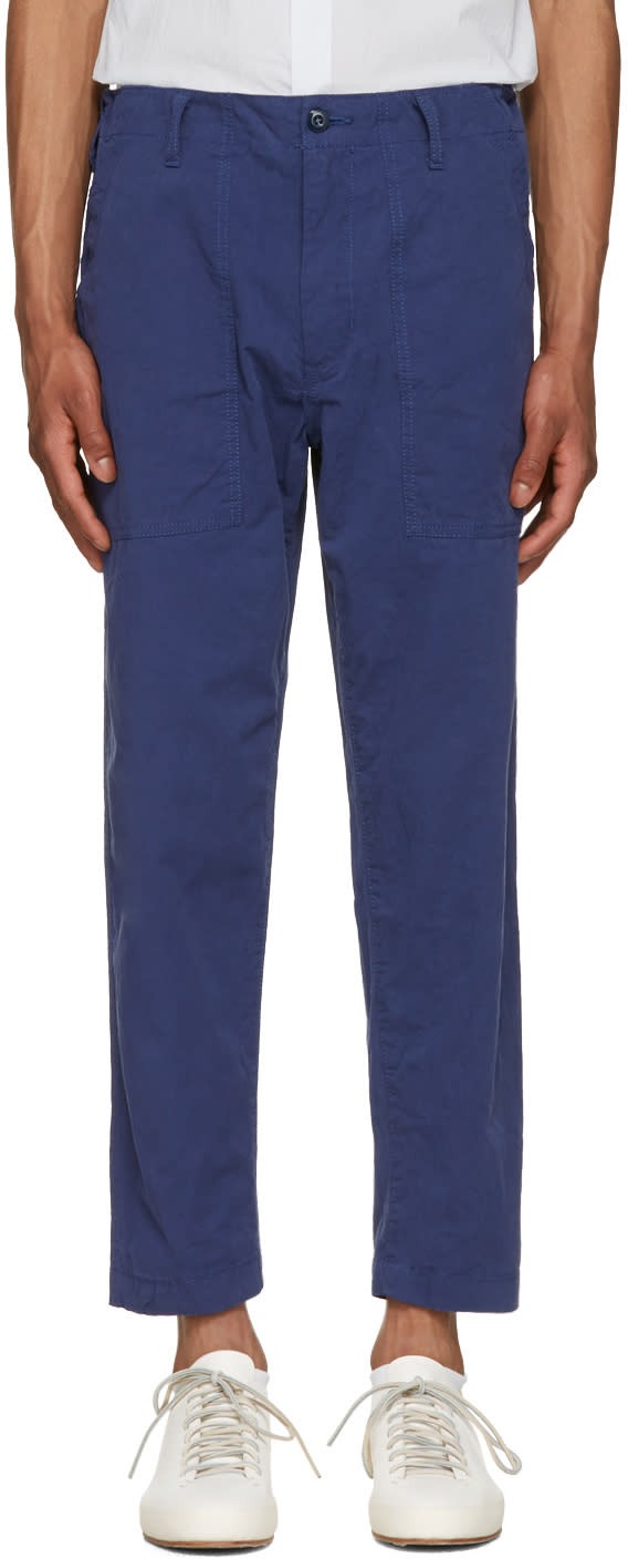 Image of Ganryu Navy Twill Trousers