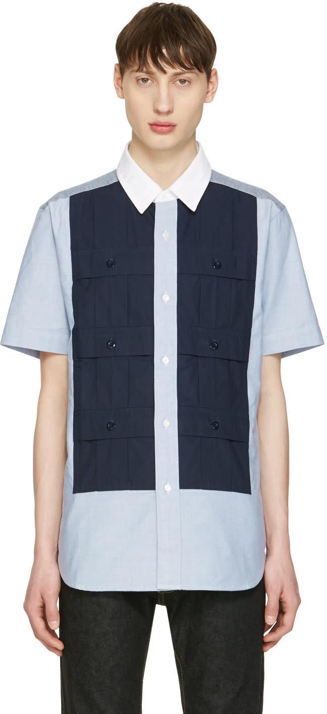 Ganryu Blue Multi Pocket Shirt