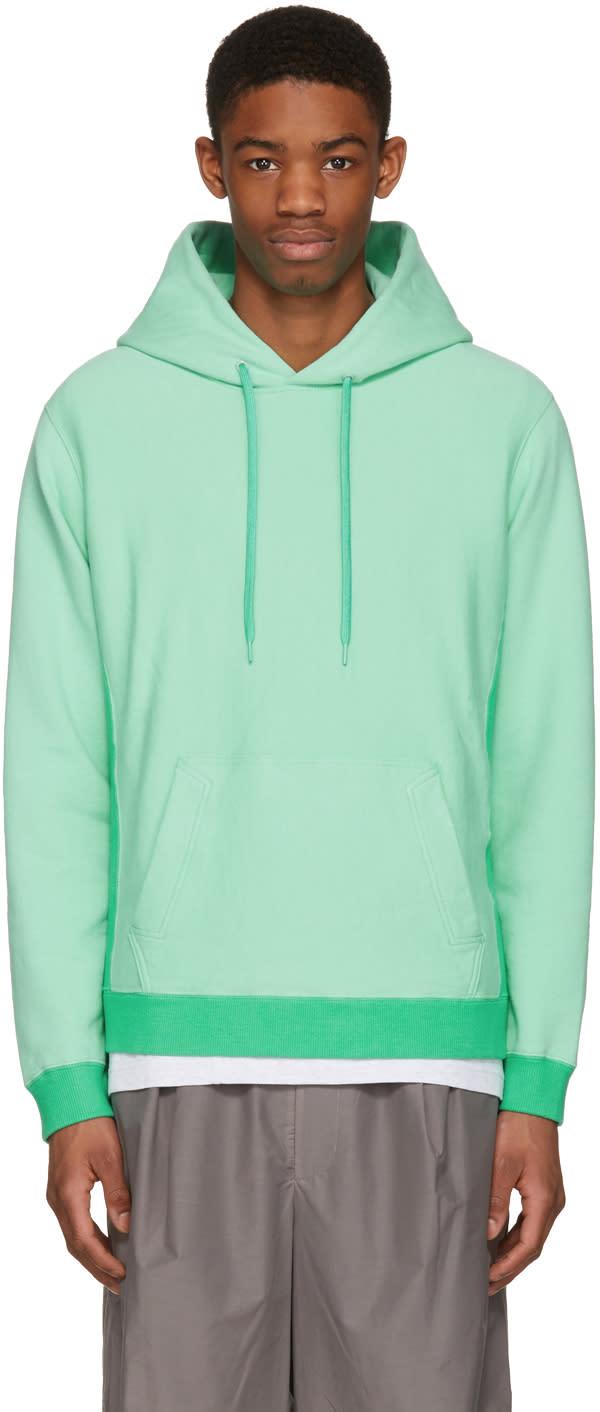 Ganryu Green Cotton Hoodie