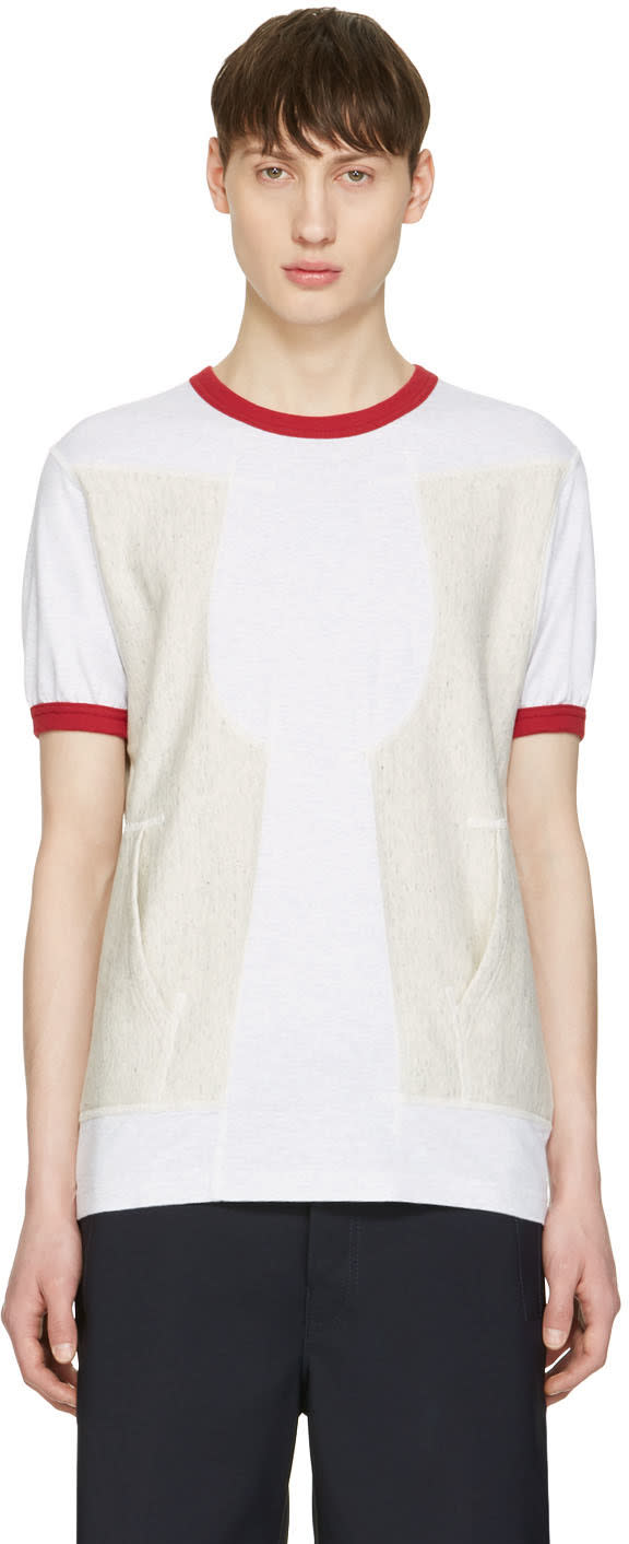 Image of Ganryu Red Pocket Ringer T-shirt