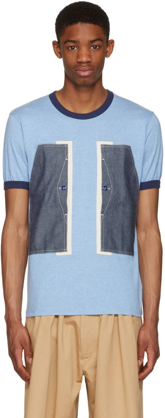 Image of Ganryu Blue Pocket Ringer T-shirt
