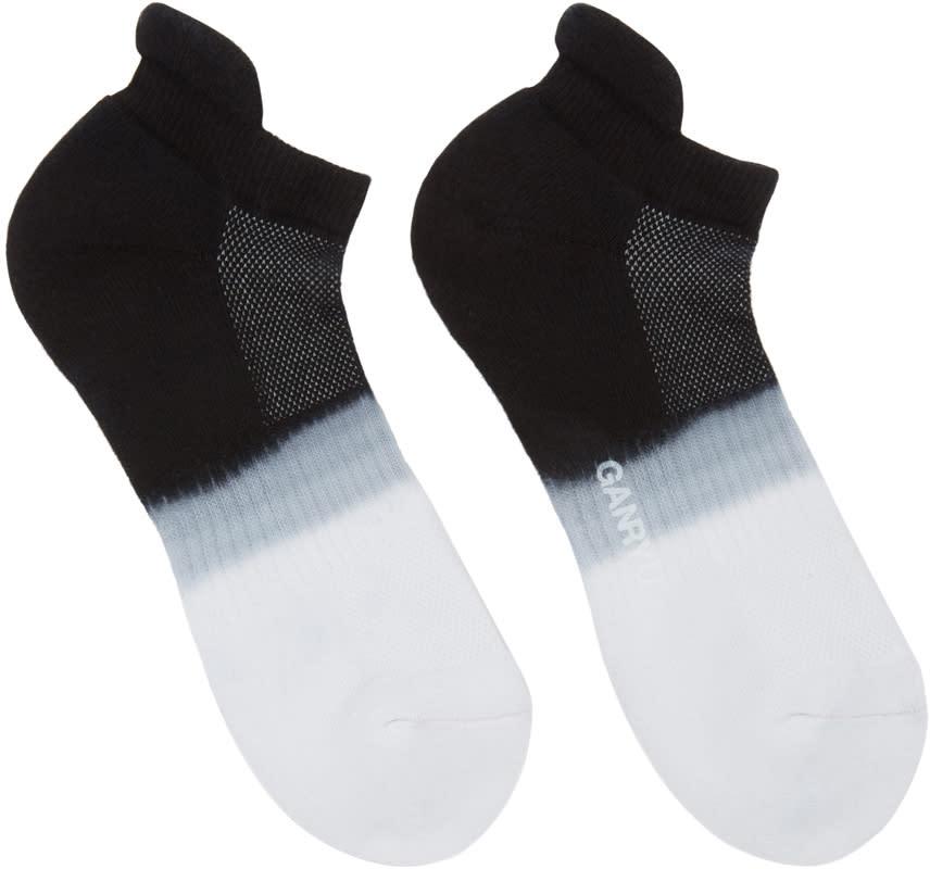 Ganryu Black and White Tie-dye Socks