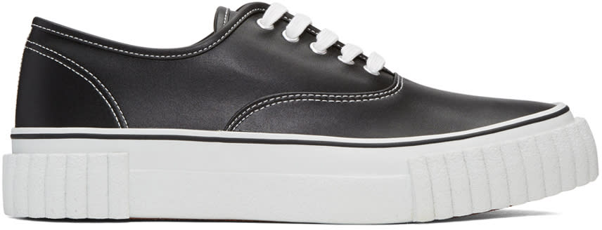Ganryu Black Textured Sole Sneakers