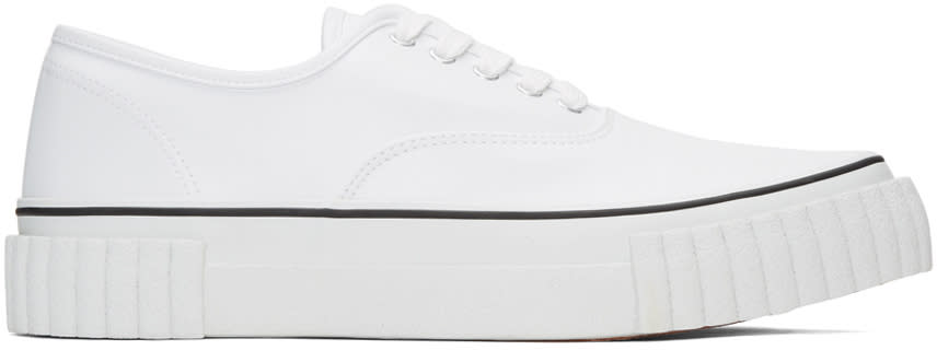 Ganryu White Textured Sole Sneakers