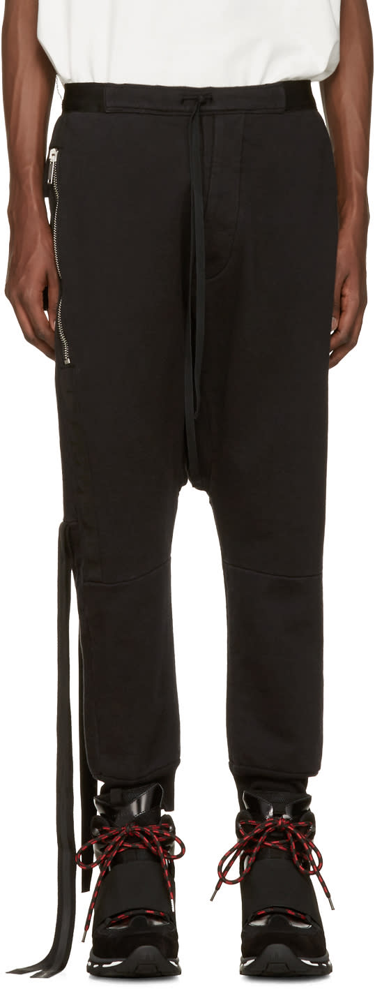 Unravel Black Pockets  Lounge Pants