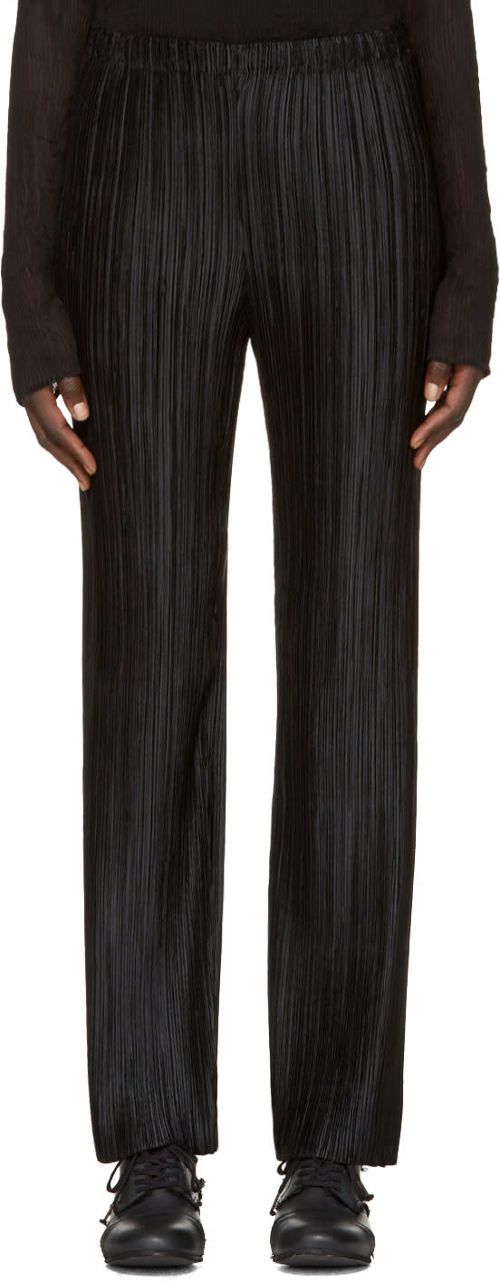 Issey Miyake Black Pleated Trousers