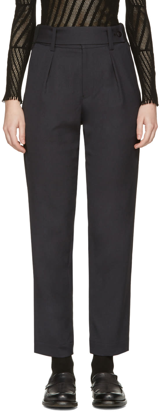 Issey Miyake Black Tailored Trousers