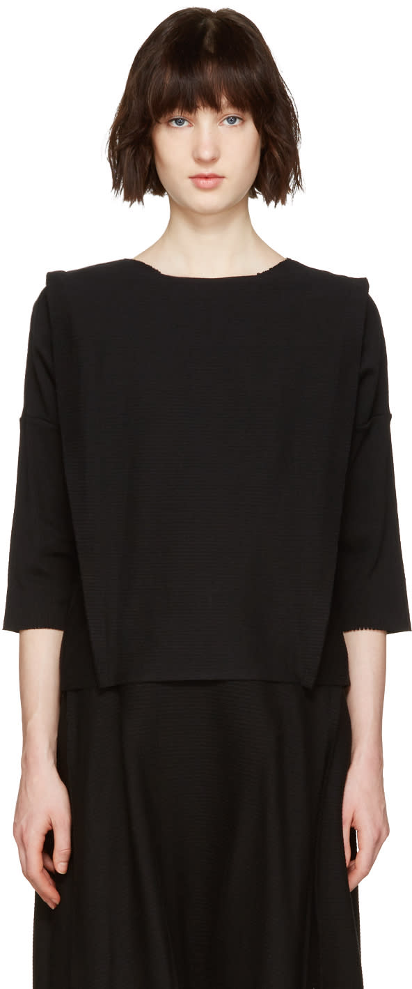 Issey Miyake Black Panel Pullover