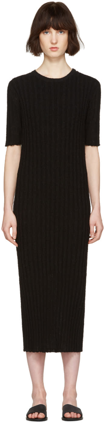 Nehera Black Ribbed Dress