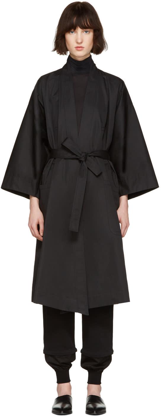Nehera Black Kimono Trench Coat