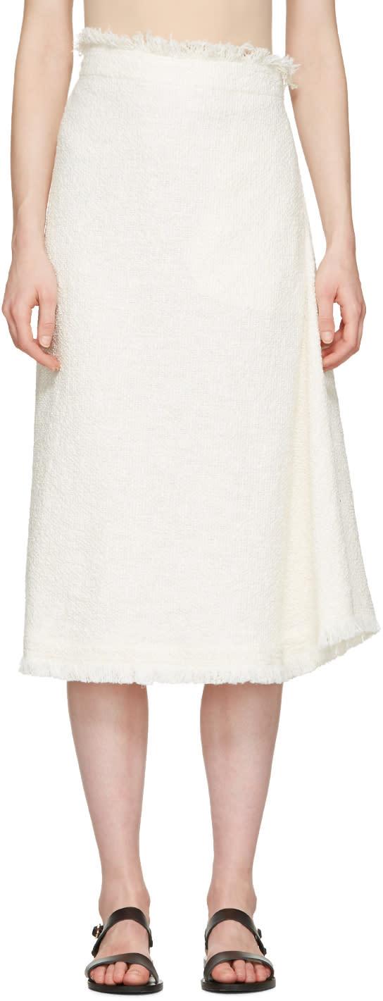 Nehera Off-white Asymmetric Skirt