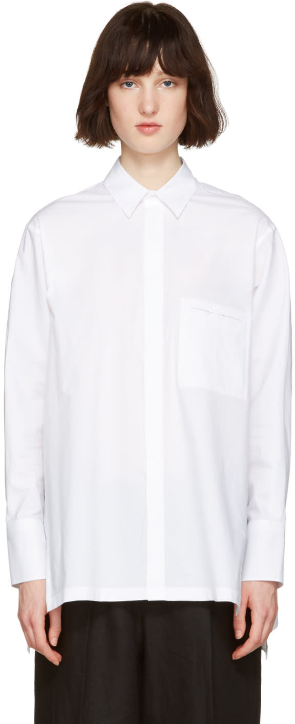 Nehera White Oversized Poplin Shirt