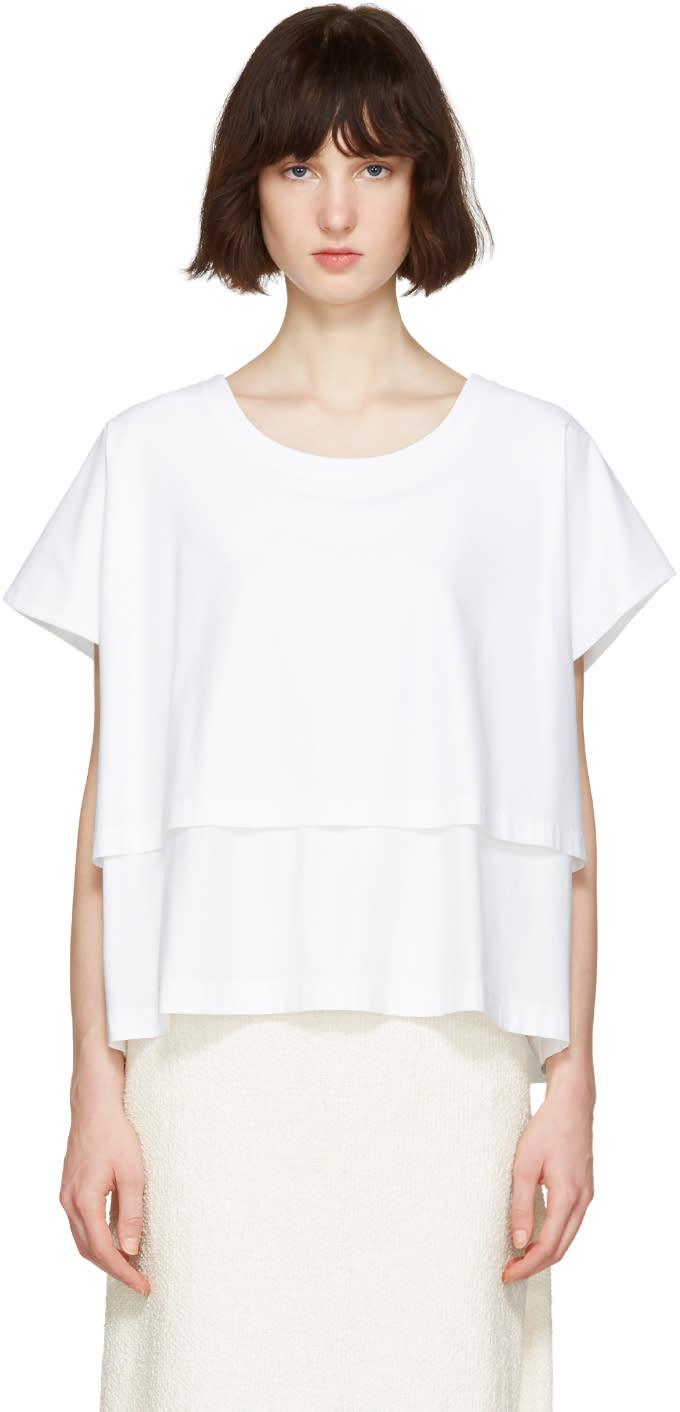 Nehera White Two-layered T-shirt