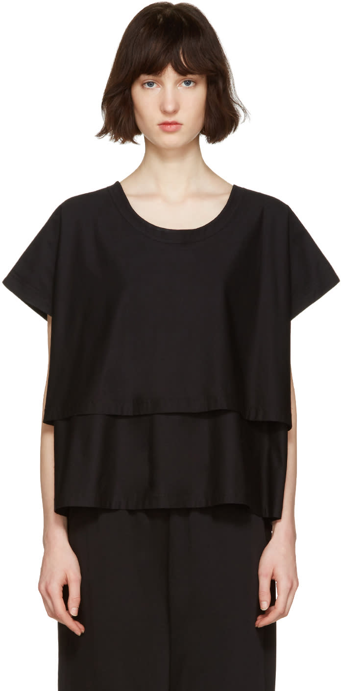 Nehera Black Two-layer T-shirt