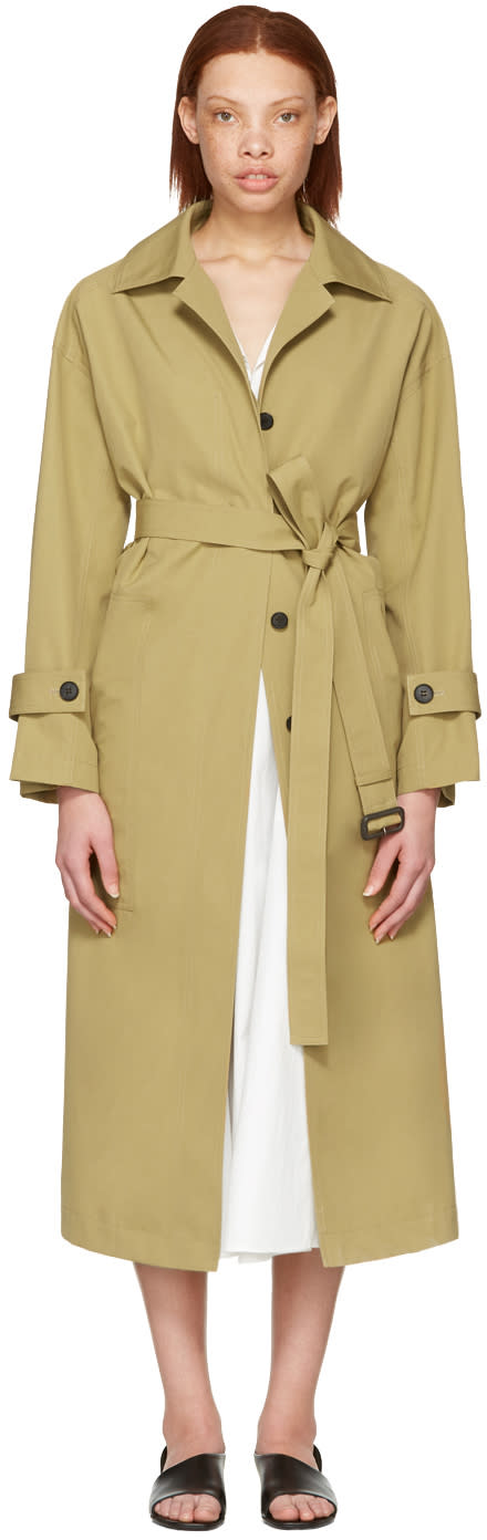 Cyclas Khaki Oversized Trench Coat