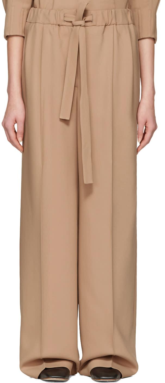 Cyclas Beige Belted Trousers