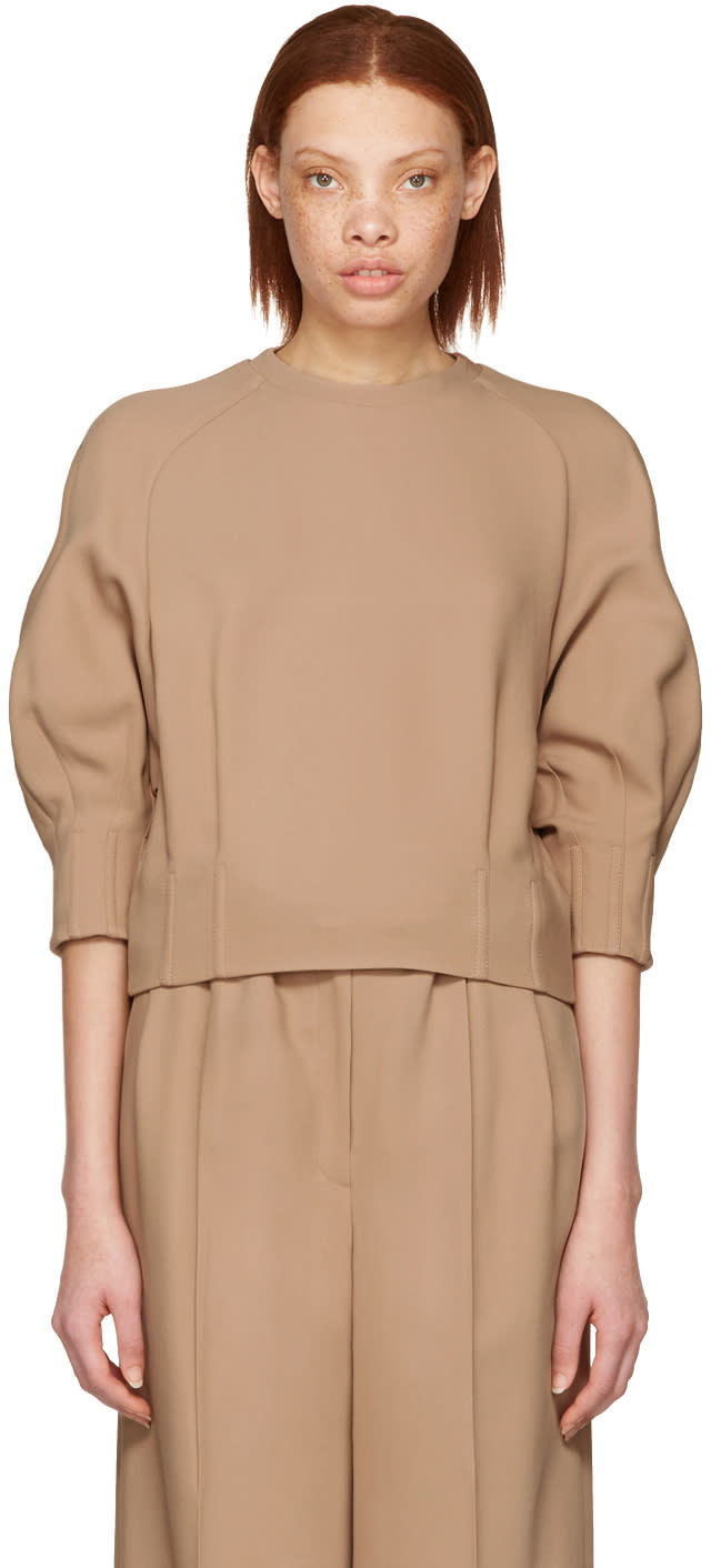 Image of Cyclas Beige Carrot Sleeve Pullover