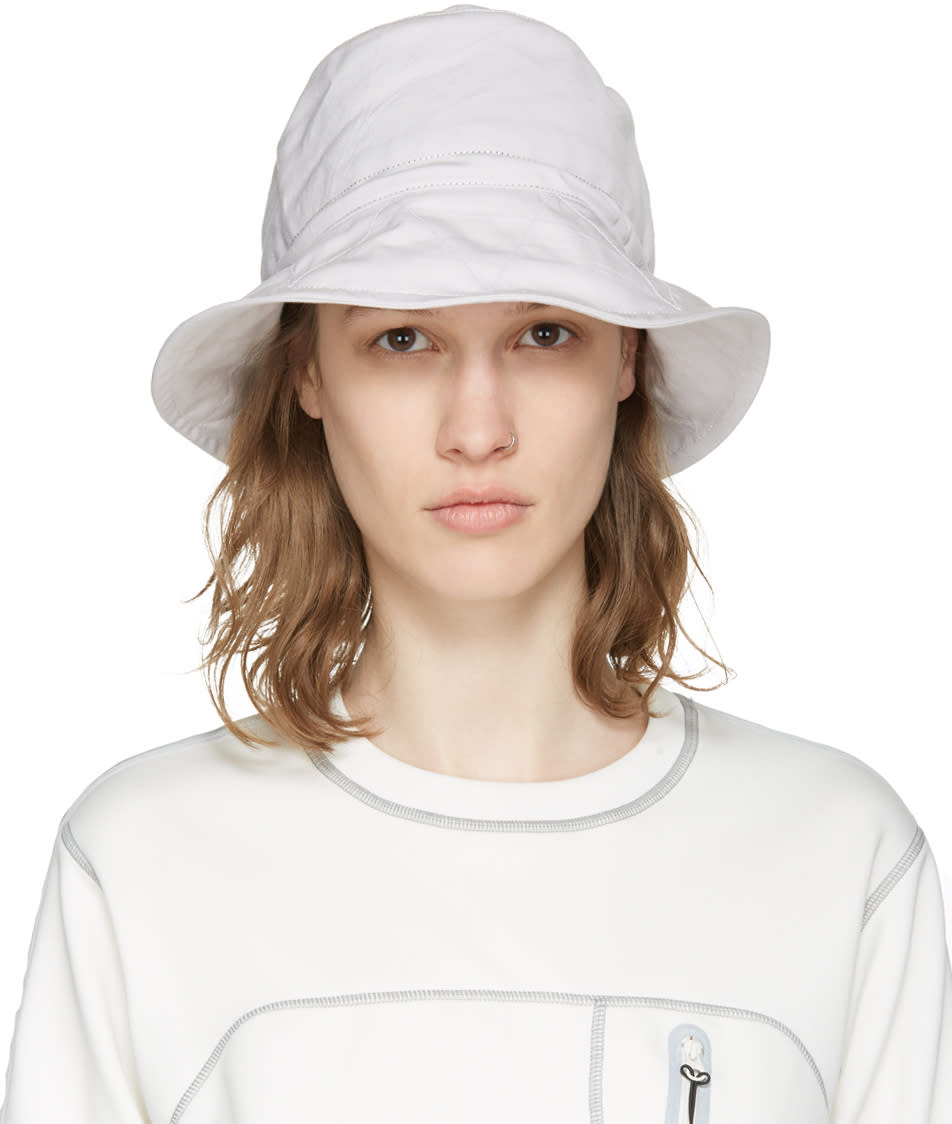 And Wander Off-white Bucket Hat