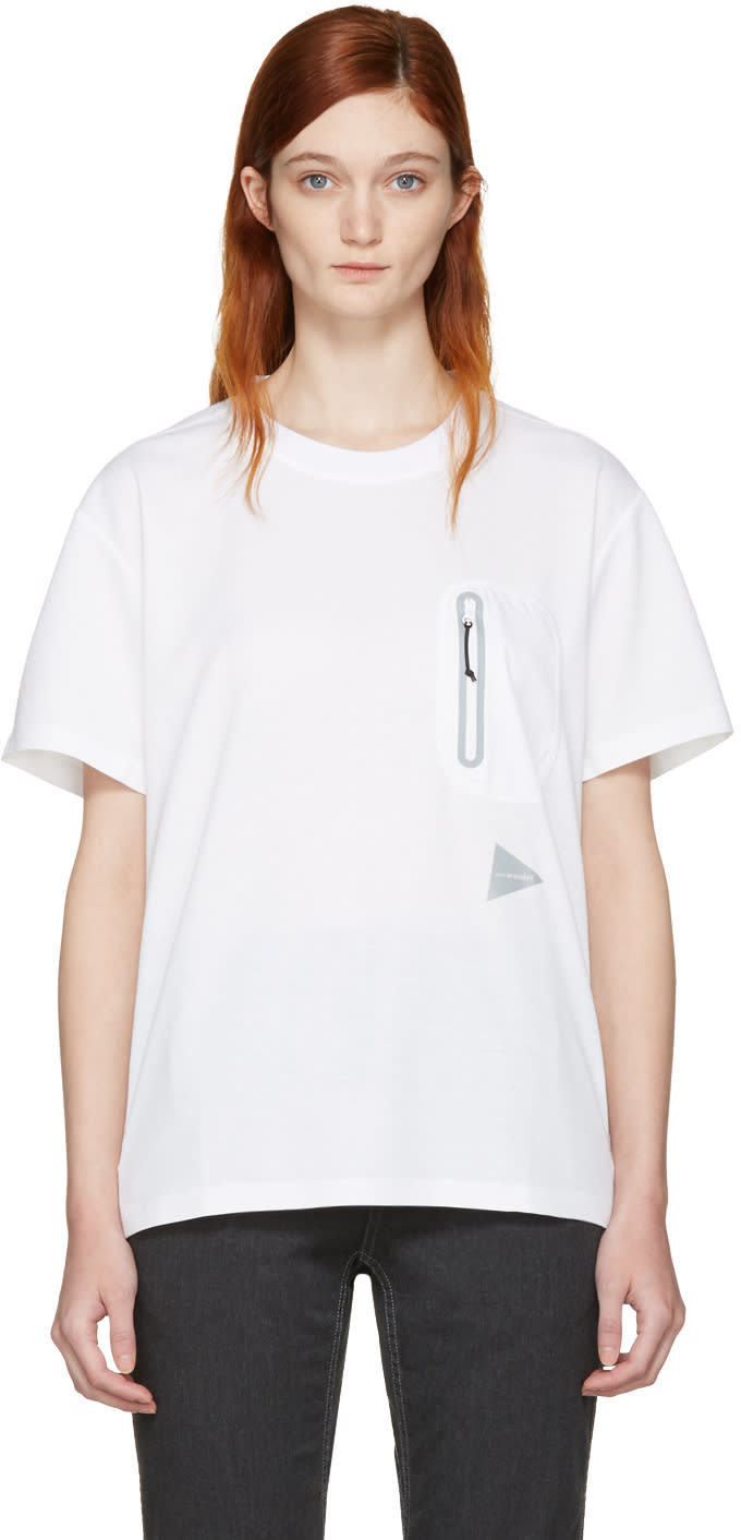 And Wander Off-white Seamless T-shirt