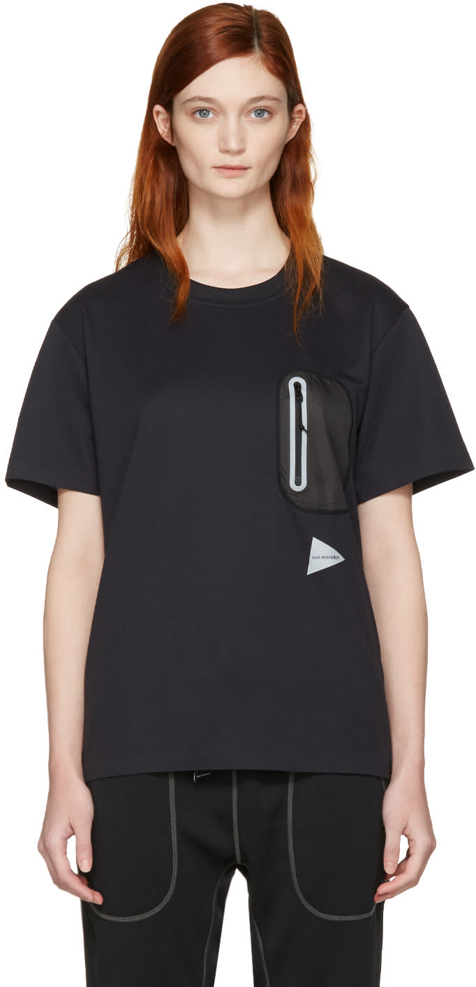 And Wander Black Seamless T-shirt