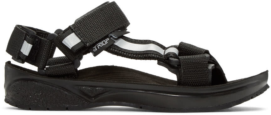 And Wander Black Triop Edition Straps Sandals
