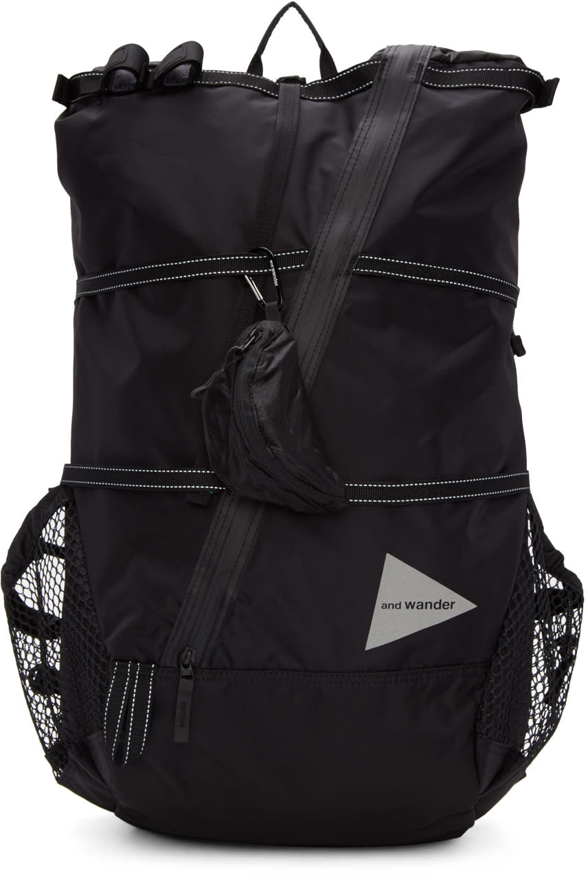 And Wander Black 40l Backpack